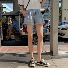 Pregnant women's pants summer thin style new style of 2019 wearing wide legged Jeans Shorts fashion brace bottom hot pants