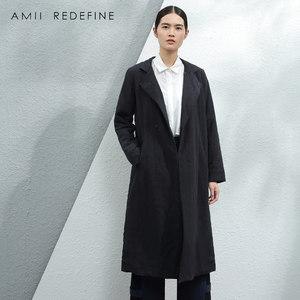 JII AMII原创设计师品牌冬季棉服中长款<span class=H>加厚</span>纯棉外套女装宽松大码