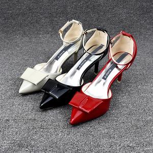高跟鞋女细跟纯色包头2018夏季新款女单鞋<span class=H>小码</span>职业<span class=H>女鞋</span>子欧美鞋