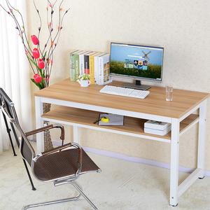 包邮简约电脑桌简易<span class=H>书桌</span>定制双层书法桌办公桌钢木桌培训桌台式桌