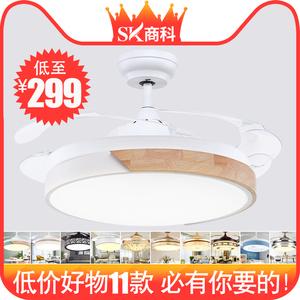北欧隐形<span class=H>电风扇</span>吊灯餐厅客厅卧室带电扇的家用一体静音吸顶吊扇灯