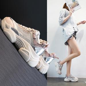ins老爹鞋2019夏季新款网红网面透气运动鞋<span class=H>女鞋</span>韩版潮鞋休闲<span class=H>鞋子</span>