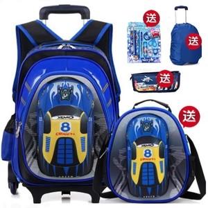 拖拉杆书包34-5年级小学生男拉竿箱三个<span class=H>轮子</span>的拉捍书包儿童推拉箱