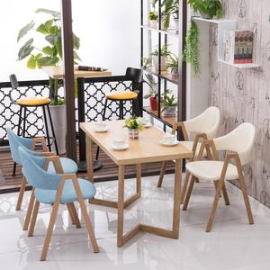 网红奶茶店<span class=H>小吃店</span><span class=H>桌椅</span>咖啡厅甜品店西餐厅卡座沙发快餐桌组合包邮