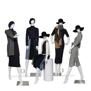 新款高端塑料模特<span class=H>道具</span>女全身亚光白色欧式女装橱窗假人展示模特架