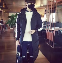 Winter men's medium length, thickened down jacket, young student, trend lover, Han edition, slim code, winter jacket.