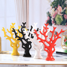 Home furnishings creative small ornaments, modern minimalist ceramic wine cabinet decoration, new room, living room accessories, riches tree