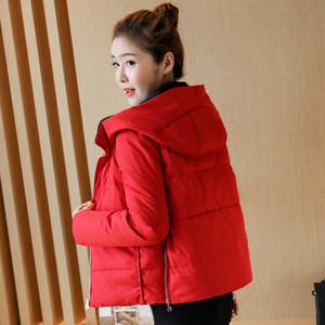 反季两面穿<span class=H>羽绒服</span>女短款2018新款韩版女款时尚韩国小款面包服外套