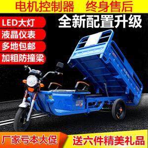 电动三轮车成人代步车接送孩子家用货车载货王电瓶加强山区版新款