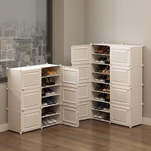简易<span class=H>鞋柜</span>家用门口收纳多层经济型宿舍省空间防尘进门置物架鞋架子