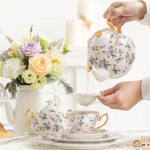 欧式咖啡杯碟小奢华英式下午茶骨瓷茶具套装<span class=H>陶瓷</span>红茶<span class=H>杯子</span>