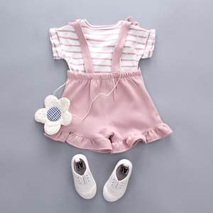 女童套装女人女婴夏天女生裤子童装<span class=H>热裤</span>3岁夏季婴童外出上装少女