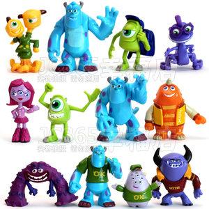 动漫模型玩具 怪兽大学<span class=H>怪物</span>电力公司公仔毛怪玩偶摆件 全套12款