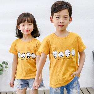 【8.9】100%竹节棉短袖儿童纯棉t恤