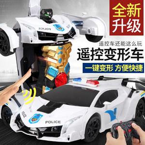 遥控汽车充电感应变形儿童<span class=H>玩具车</span>金刚变形机器人4-5-10岁男孩礼物