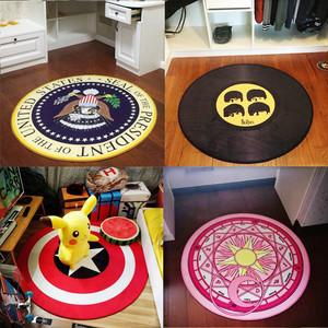 圆形<span class=H>地毯</span>儿童卡通北欧现代简约客厅卧室吊篮转椅垫机洗电脑椅地垫