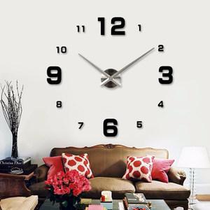 现代简约<span class=H>DIY</span>墙贴钟表3D时尚创意客厅挂钟 电视背景墙贴挂钟