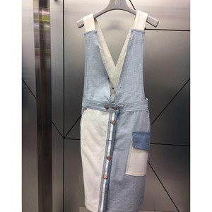 清仓回馈 2019春夏新款女装韩版度假风很仙的背带牛仔裙子连衣裙