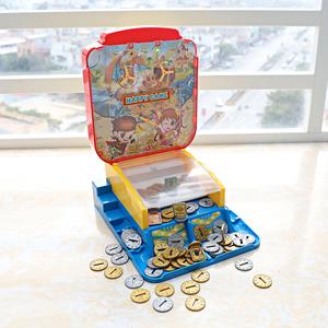 迷你推币机家用小型投币游戏机互动亲子益智桌面室内娱乐儿童玩具