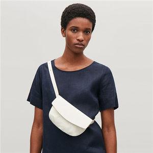 2019夏新款<span class=H>女包</span>欧美小众设计简约百搭单肩斜跨纯色软皮褶皱小腰包