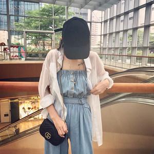 雪纺防晒衫女2018夏季新款蕾丝上衣外搭开衫短款防晒衣网纱外套薄