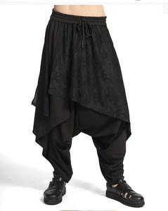 新款英伦<span class=H>潮男</span>宽松大低裆裤休闲嘻哈个性<span class=H>另类</span>日系裤<span class=H>裙裤</span>子小脚长裤