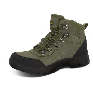 双星高帮登山鞋男防水防滑户外运动鞋秋冬耐磨徒步防滑鞋头层牛皮