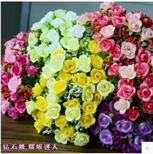 Fake flower simulation bouquet plastic flower small bunch cloth fabric decoration flower inserted flower dried flower 绢 flower cloth flower