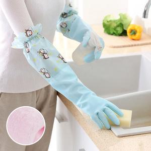 厨房洗碗防水保暖加绒加厚<span class=H>手套</span>家用洗衣清洁防滑做家务做饭胶<span class=H>手套</span>