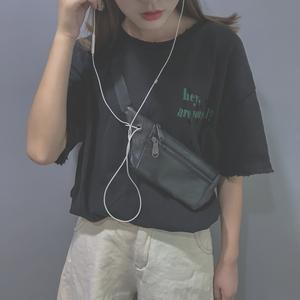 ins超火斜挎学生腰包女2019新款百搭时尚港风个性韩版蹦迪包胸包
