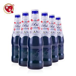 法国原装进口精酿凯旋1664白啤blanc<span class=H>啤酒</span>果味精酿250mL*6小瓶装