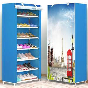 布<span class=H>鞋柜</span>简易鞋架多层家用防尘宿舍寝室小号鞋架子组装经济型收纳柜