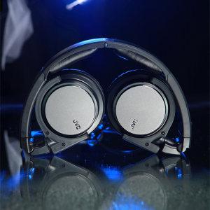 JVC/杰伟世 HA-S500<span class=H>耳机</span>头戴式便携可折叠hifi音乐发烧级监听手机苹果安卓通用头带式无麦立体声隔音单孔学生