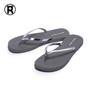 ROCKY BEAR/洛克熊金属人字拖女夏新款时尚浴室外穿平底沙滩拖鞋