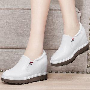 <span class=H>金丝兔</span>2018秋季新款内增高乐福鞋高跟休闲套脚单鞋坡跟小白鞋女鞋