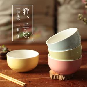 碗家用吃饭礼盒装碗筷套装小简约陶瓷<span class=H>餐具</span>礼品可爱日式碗具套装