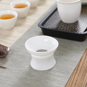 百里唐 德化陶瓷茶漏白瓷茶叶过滤网日式泡<span class=H>茶器</span>茶滤器架茶具配件