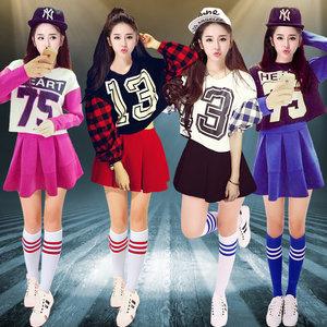 韩版成人套装演出服女新款爵士舞<span class=H>服装</span>学生短裙现代<span class=H>舞蹈</span>舞台表演服