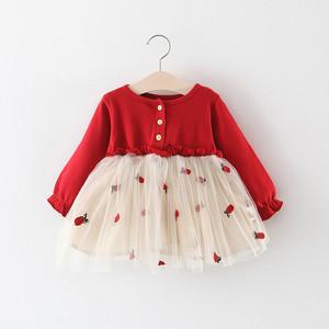 <span class=H>童装</span>女童裙子春秋儿童小女孩蓬蓬纱公主裙0一1-3岁宝宝春装连衣裙