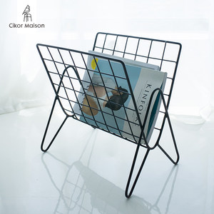 喜客喜家 北欧铁艺桌面杂志架 现代客厅经济型卧室桌上简易小<span class=H>书架</span>