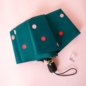 德国全自动雨伞波点晴雨伞两用女防晒防紫外线便携小巧折叠太阳伞