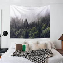 European and American green forest landscape tapestry tapestry tapestry background cloth tablecloth bedroom decorative cloth tapestry wall cloth