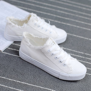 2017新款韩版黑白色帆布鞋女布鞋春季百搭学生平底休闲小白鞋女鞋