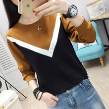 Long Sleeve Bottom Shirt Women 2019 New Spring and Autumn Korean Edition Loose Top Clothes Hundred Sets T-shirt Women's Wear Net Red Chao Pure Cotton