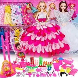 依甜芭比<span class=H>洋娃娃</span>套装大礼盒女孩公主儿童玩具换装婚纱别墅城堡衣服