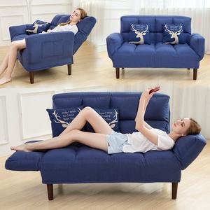 现代懒人<span class=H>沙发</span>床小户型可折叠客厅双人榻榻米两用布艺休闲<span class=H>椅</span>子