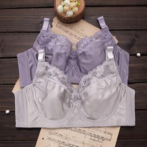 大胸显小大码文胸薄款聚拢全大罩杯胖mm胸罩调整型女士超薄内衣