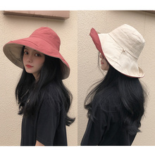 Fisherman's hat, woman's cap, eaves, summer and Korean version of Chaobai hat, Japanese anti-ultraviolet sunshade hat, sunscreen and face shade