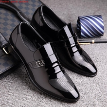 Male pointed shoes low heel shoes