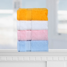 Three small towels with cotton face wash towels and thicker, quick-drying, skin-friendly and soft children's towels